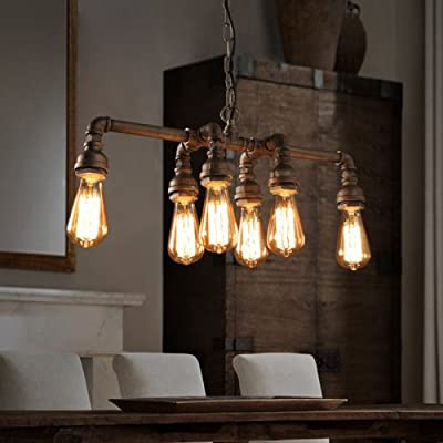 Lightinthebox Edison Retro Loft Style Vintage Industrial Pendant Light Lamp Metal Water Pipe,Luminaire Lampara Colgantes Restaurant Bar Hanging Light