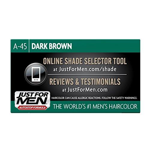 just for men autostop mens combin hair color dark brown