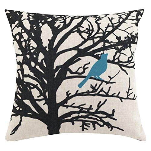 ChezMax Square Cartoon Animal Printed Cushion Cover Cotton T