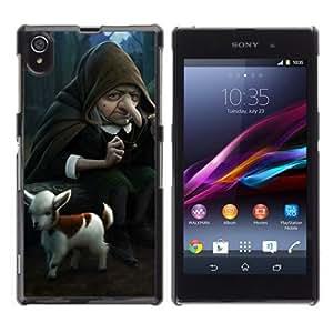 YOYOSHOP [Funny Witch & Goat Illustration] Sony Xperia Z1 L39h Case