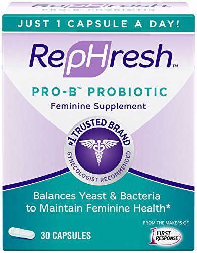 RepHresh Pro-B Probiotic Feminine Supplement Capsules 30 ...