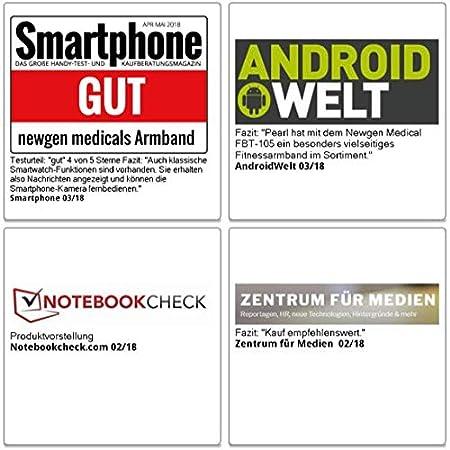 Newgen Medicals Brazalete de fitness: Fitness de pulsera con sangre de impresión de pantalla, frecuencia cardíaca & Bluetooth, IP67 (Pulso Relojes): ...