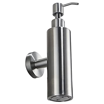 Amazoncom Wincase All Stainless Steel Wall Mounted Soap Dispenser