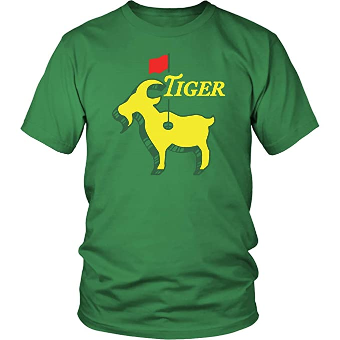 b15762e2dc42d Tiger The Goat The Masters Augusta Greatest of All Time Green Golf T ...