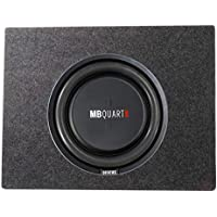 MB Quart 400 Watt 12 Inch Shallow Subwoofer + Q Power Slim Sub Car Box Enclosure