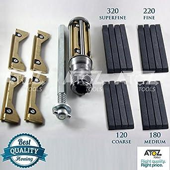 CYLINDER ENGINE HONE KIT- 34 to 60 mm Honing Machine with 4 set Honing  Stones 120, 180, 220, 320