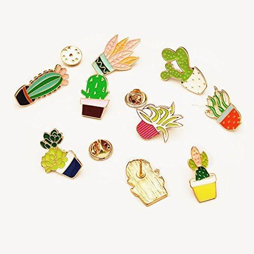 10 hello-crafts UB-UHA5-DVWM Godagoda Mixte Cartoon Badge Broche Pin Multicolore Cadeau