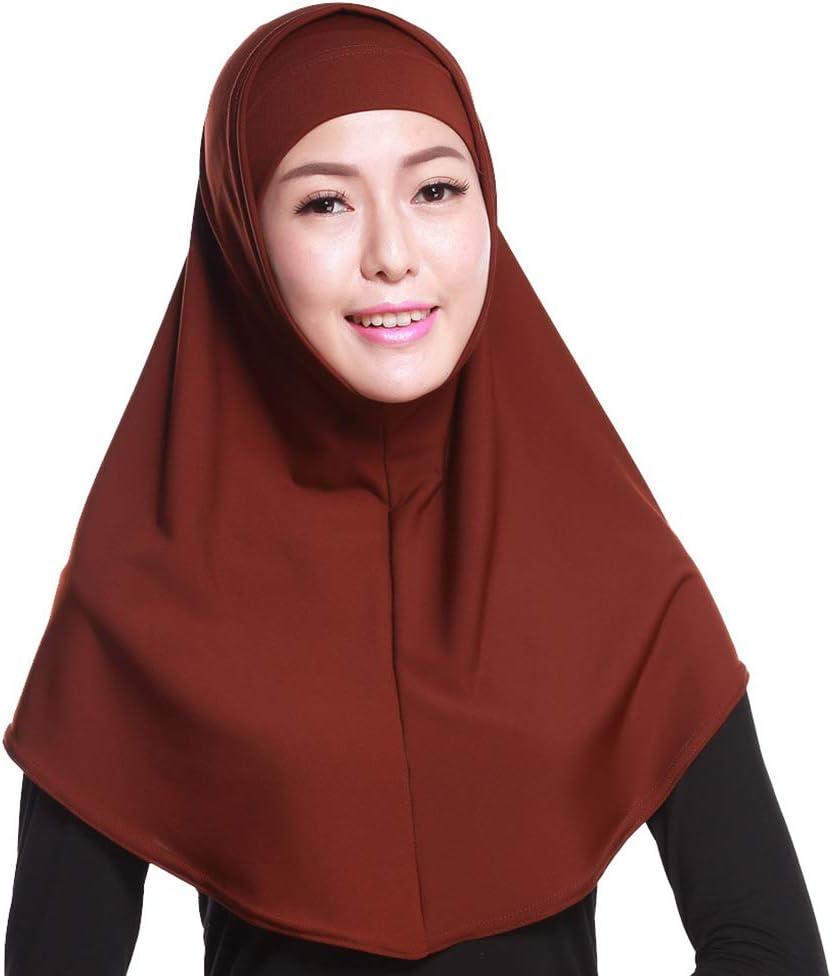Wickel-Kopftuch f/ür Damen mit Schlauchinnenkapuze luosh 2-teiliges Damen-Kopftuch aus Baumwollstretch Hijab