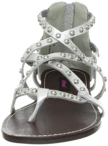Sandalo Gladiatore Da Donna Delle Bambole In Argento