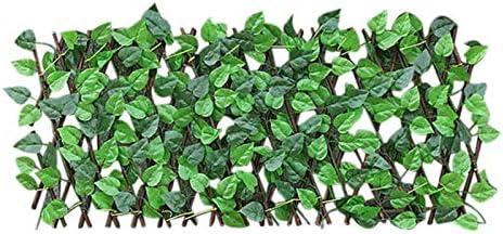 Lingge Intrekbare omheining hoogte 40 cm kunsthaag met bloemen inkijkbescherming omheining kunstplanten heggen inkijkbescherming tuin valse omheining voor huis bruiloft feest tuin