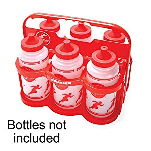 Cramer Collapsible Carrier, Empty Water Bottle Holder, Holds (6) One Quart Squeeze Water Bottles, For Team Sports, Football, Lacrosse, Hockey, Soccer