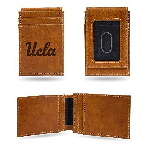 Rico Industries NCAA UCLA Bruins Laser Engraved Front Pocket Wallet, Brown ()