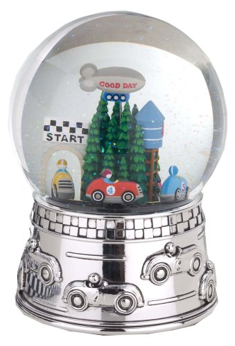Reed & Barton Race Car Musical Water Globe, plays Star Spangled ()