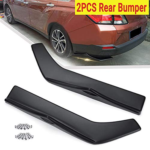 - 2pcs Universal Car Rear Left&Right Bump Lip Wrap Splitters Side Skirt Extensions Protection Cover