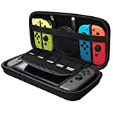 Nintendo Switch Case, Akmac Hard Carrying Case for Nintendo Switch with Game Cartridge Holders with Zipper Protective Travel Case (Black) For Sale