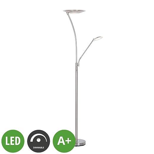 LED Lámpara de pie Fridarika (Moderno) en Gris hecho de ...