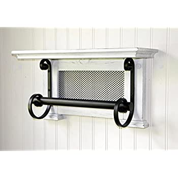 Amazon.com: WOOD TOWEL RACK TOWEL BAR WALL SHELF WALL MOUNTED HAND ...