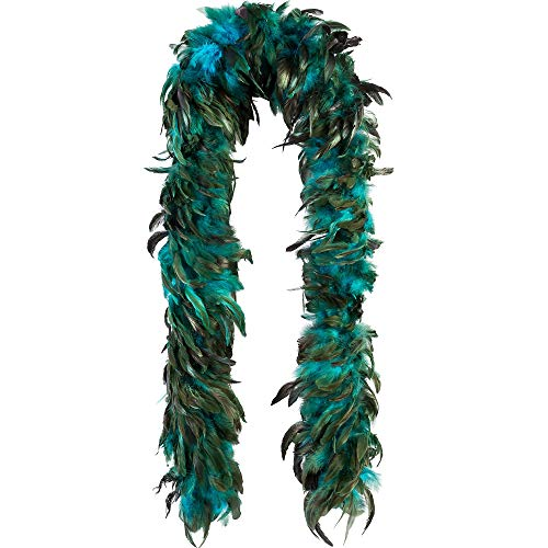 AMSCAN Turquoise Feather Boa Deluxe Accessory for Adults, 72