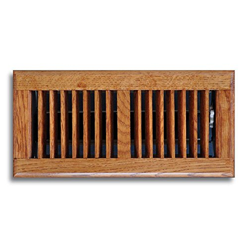 T.A. Industries 04 in. x 10 in. Oak Floor Diffuser Dark Finished (Ta Industries Floor Register)