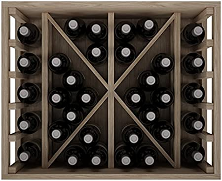 Expovinalia ER2531 Botellero Con Capacidad Para 34 Botellas, Roble