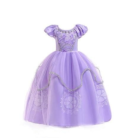Qz Niñas Princesa Sofía Vestirse Vestidos De Fiesta De Disfraces Para Niños Vestir Fiesta De Cumpleaños De Halloween Cumpleaños De Halloween Vestir