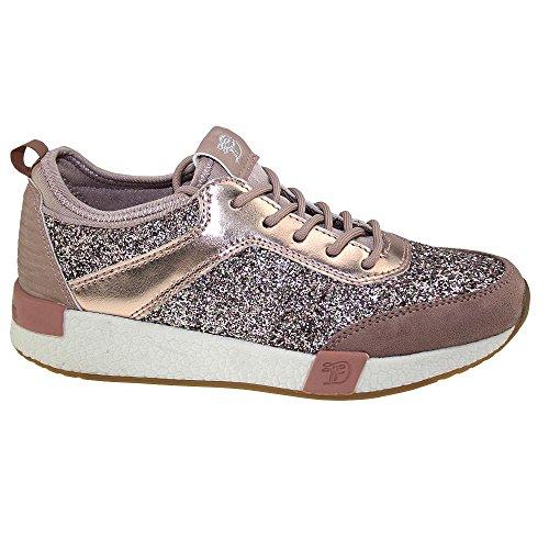 TOM TAILOR 2799102 leichter Damen Sneaker Rosé Gr.37-42