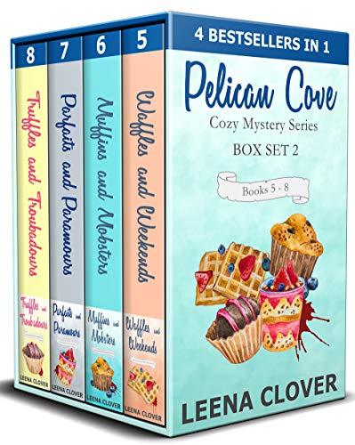 Pelican Cove Cozy Mystery Series Box Set 2: Books 5-8 in Pelican Cove Cozy Mysteries by [Clover, Leena]