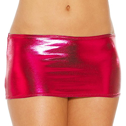 Lingerie da Donna ?? Fami Womens Solid Bare Imitation Leather Lingerie Skirt Sexy Slim Buttocks Short Straight Mini Skirt Underwear (Viola#2, Free size) Rosso#1