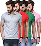 T.N.X Soft Cotton Polo Shirts for Men Combo (Pack of 4)