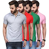 Tnx Soft Cotton Polo Shirts for Men Combo (Pack of 4)