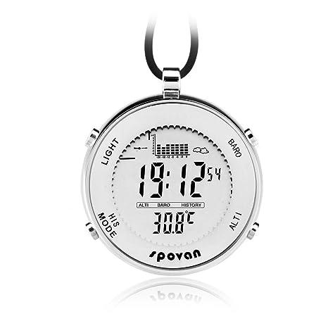 CyclingBoy Barómetro multifunción, Reloj de Bolsillo Digital altímetro/termómetro/pronóstico del Tiempo al