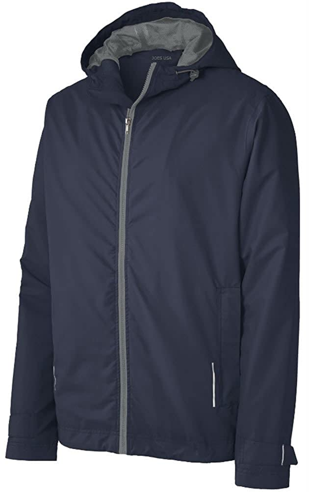 Joe's USA Mens Classic Rain Jackets in 4 Colors, Sizes: XS-4XL USAL08202016800
