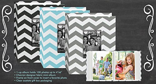 Pioneer Fabric Chevron Designer 100 Pocket Photo Album - holds 100 Photos up to 4 x 6 - Assorted Colors by Pioneer Photo Albums
