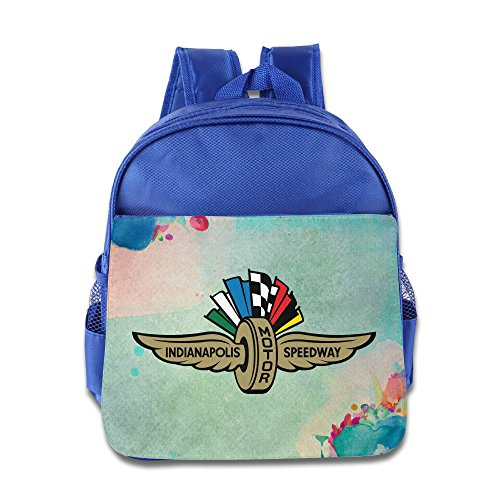 BERTHA Frenzied Racing Indy School Bags For Kids In Nursery RoyalBlue