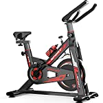 51TzfKWwMBL. SS150 QQLK Sports Cyclette Aerobica da Spinning Allenamento - Indoor Fitness Cardio Spin Bike - Freno Silenzioso, Regolazione Continua della velocità, Sedile Regolabile, Carico 150Kg