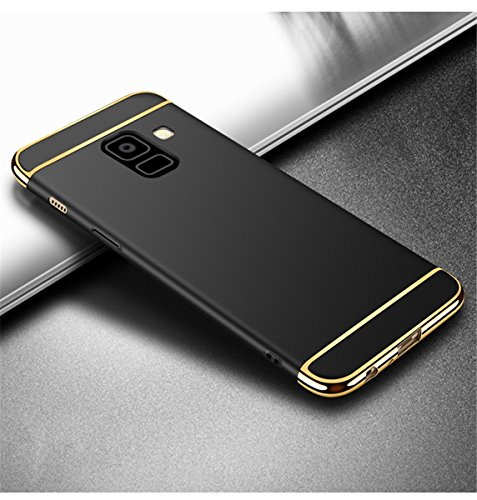 Étui Pour 3 Thin Galaxy Anti Shell Slim 2018 En Rigide Housse Back galaxy Pc 1 Légère scratch 2018 Noir Noir Protection Case A8 Adamark Récurer Placage Samsung Bumper Coque Ultra 6Sqw5X1w