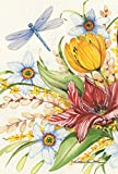 Toland Home Garden Lily Bouquet 28 x 40 Inch Decorative Spring Summer Flower Floral Dragonfly House Flag