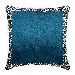 Metallic Sequin Bordered Pillow Cover