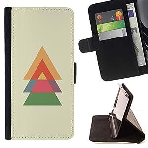 For Samsung Galaxy S3 III i9300 i747 Case , Abeto de Navidad Polígono minimalista- la tarjeta de Crédito Slots PU Funda de cuero Monedero caso cubierta de piel
