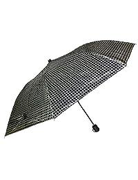 Paraguas Sombrilla Básico Negro Cuadritos Blancos Estuche Cierre Velcro (NegroBlanco)