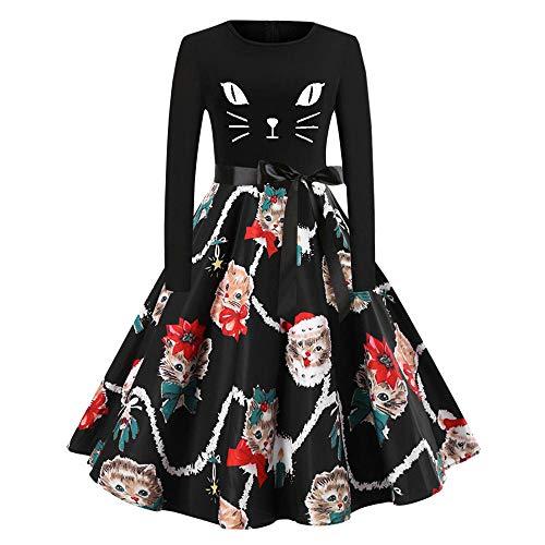 (Landfox Dress,Big Women Vintage 1950s Retro Rockabilly Prom Dresses Cap-Sleeve)