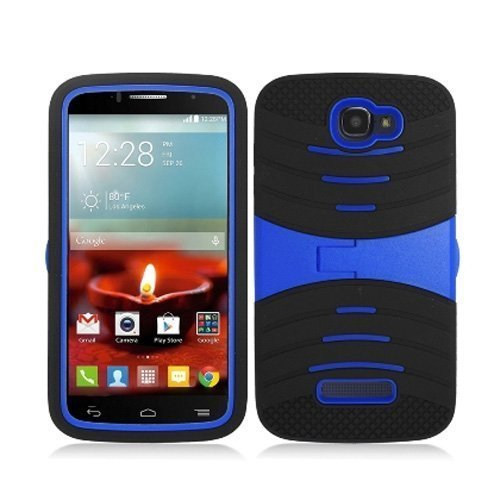 Phone Case for Alcatel Onetouch Pop Icon A564c/7040T Rugged Heavy Duty Armo Cover Blue Stand