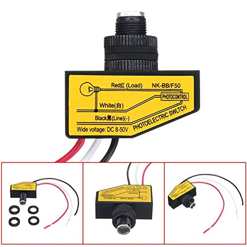 (LOCHI 1PC DC 12V 24V 36V 48V Dusk to Dawn Remote Photocell Automatic Auto ON/Off Street Light Control Sensor Switch)