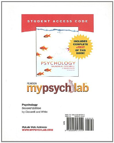 MyPsychLab with Pearson eText -- Standalone Access Card -- for Psychology (Mypsychlab (Access Codes))