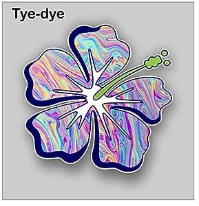 Hibiscus Flower Sticker Decal Tye Dye