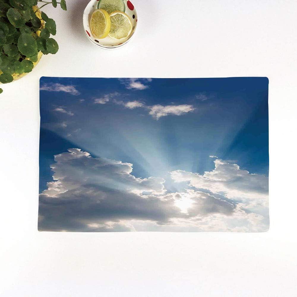 Erde Platzmatte Planet Majestic Wolken 4er Tischset aus Stoff