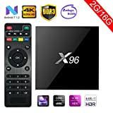Greatlizard X96 Android 7.1 Smart TV BOX 2GB RAM 16GB ROM Wifi 1080p 4K H.265 64 Bit Media TV Set Top Box