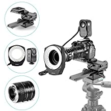 Neewer® Macro Auto Focus Extension Tubes Set,48 Marco LED Ring Light with 6 Adapter Rings and 4 Way Macro Focusing Rail Slider for Canon DSLR Camera Close-up Macro Photography Shooting