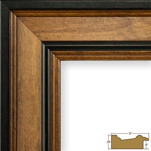Craig Frames Prairie Classic, Country Brown Solid Wood Picture Frame, 11 by 32-Inch - Prairie Hanging Finish