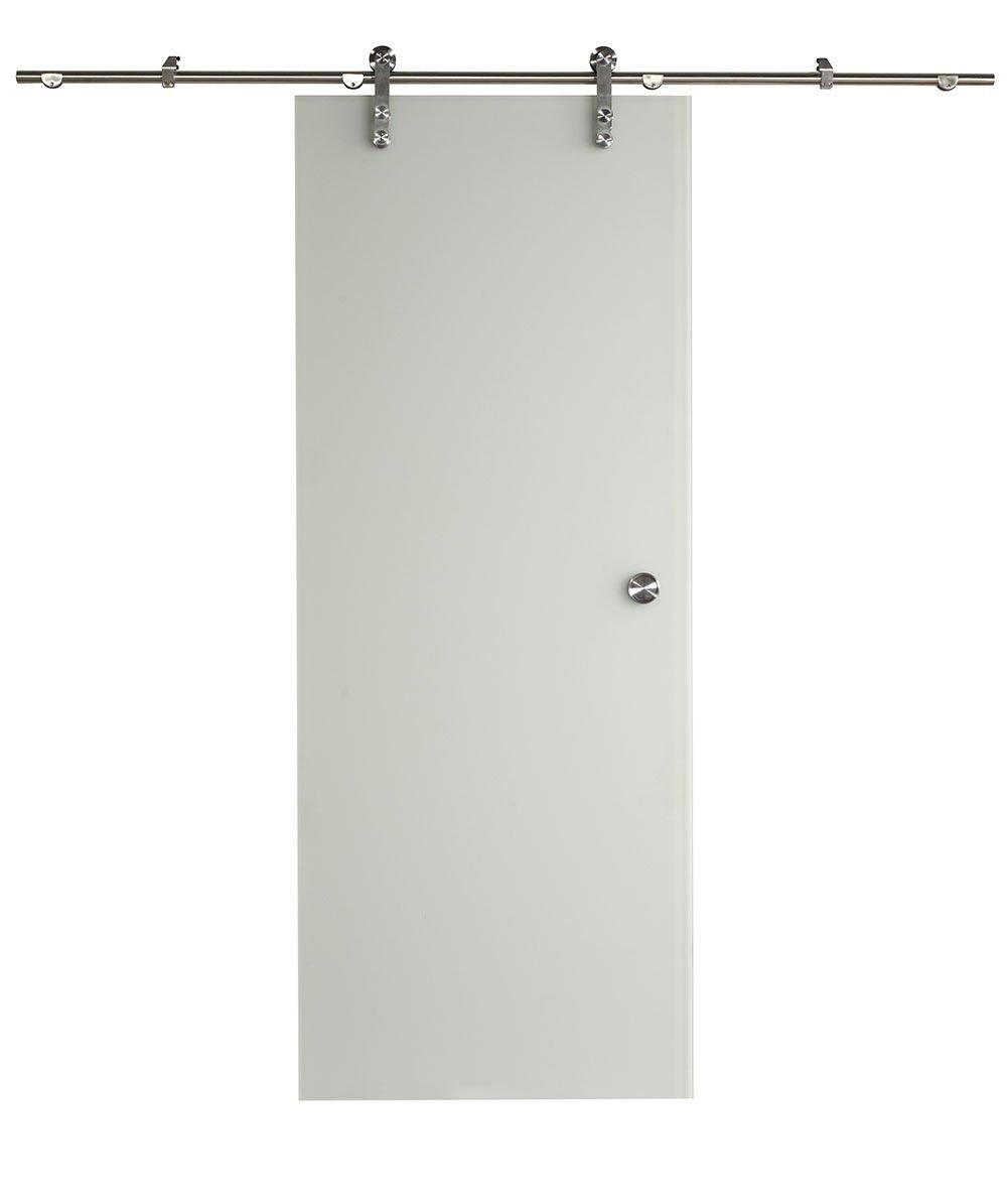 LTL Home Products 8BDGL3280ICE Ice Glass Barn Door Kit